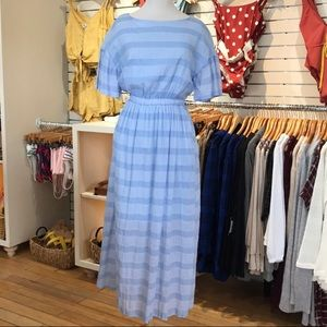 Listicle blue striped dress
